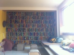 awesome africa fabric over wood panels on wall. next quilt design? i think yes.